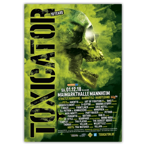 TOXICATOR 2018 | Poster