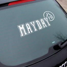 MAYDAY | Autoaufkleber | weiß