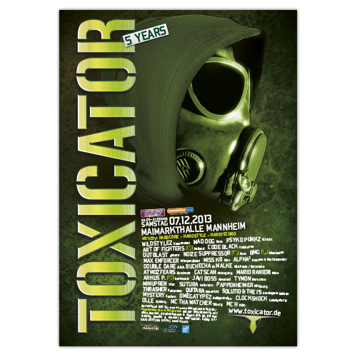 TOXICATOR 2013 | Poster | A0