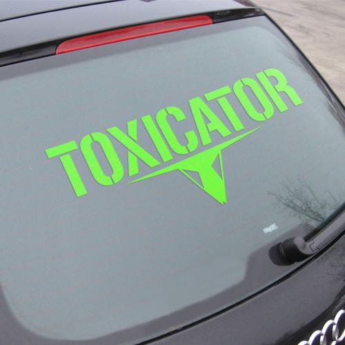 TOXICATOR | Autoaufkleber XXL | grün