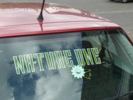NATURE ONE | Autoaufkleber | mit Blume
