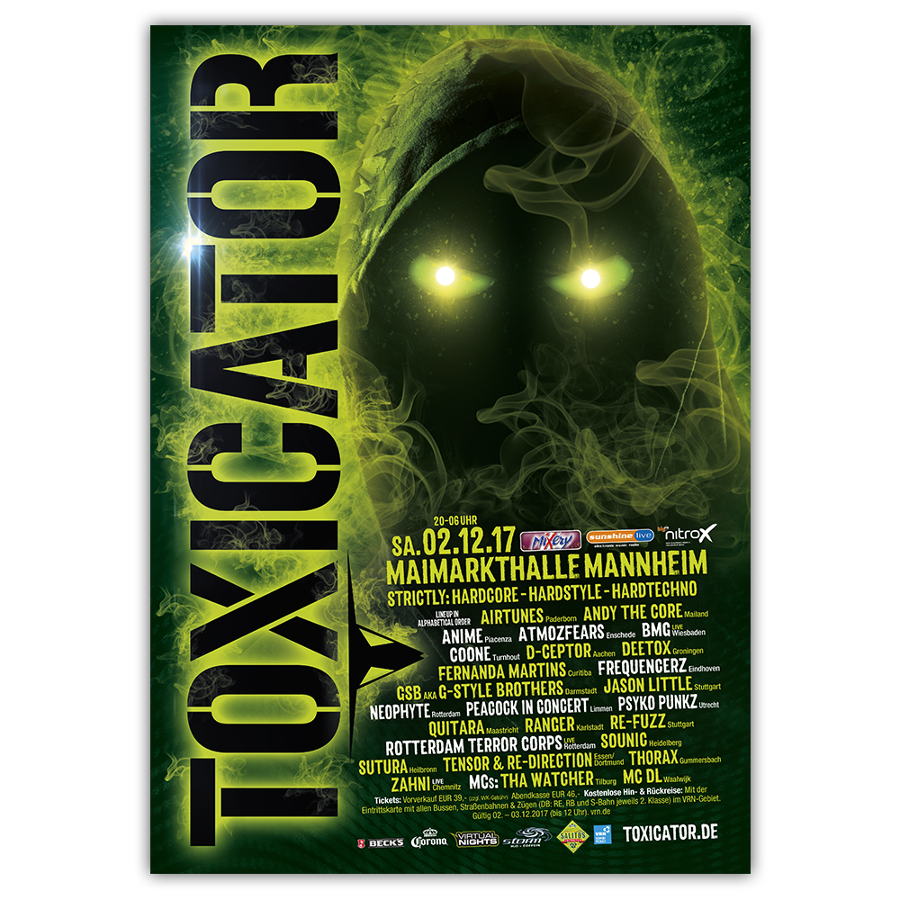 TOXICATOR 2017 | Poster | A0