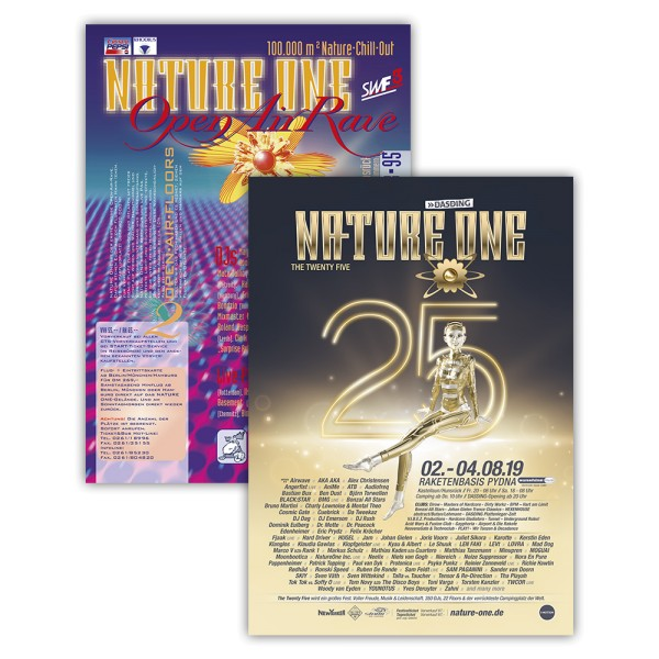 NATURE ONE   Wendeposter   1995/2019