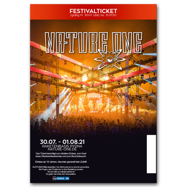 NATURE ONE 2021 | Festivalticket