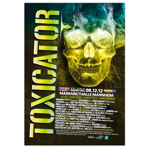 TOXICATOR 2012 | Poster | A0