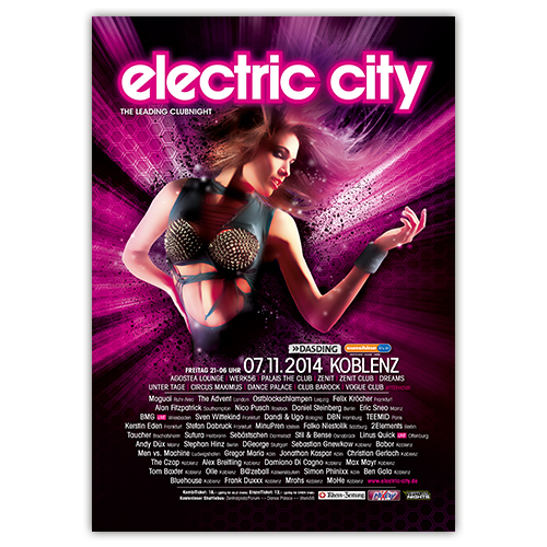 electric city 2014 | Poster | A1