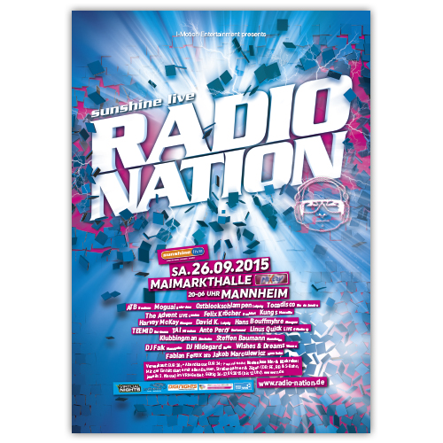 RadioNation 2015 | Poster | A0