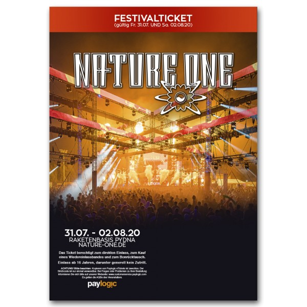 NATURE ONE 2020 | Festivalticket | Print@Home